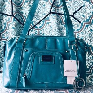 NWT Liz Claiborne Teal Scarsdale Satchel Carry-All